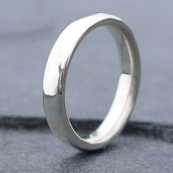 comfort fit silver ring