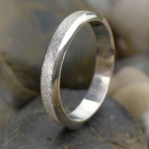 Diamond Cut Textured Sterling Silver Ring