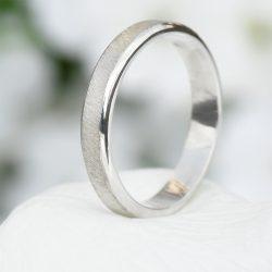 diamond cut silver ring