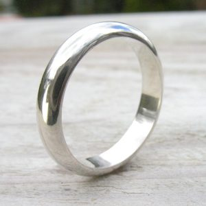 Eco Friendly Silver Ring - Size M 1/2-2071