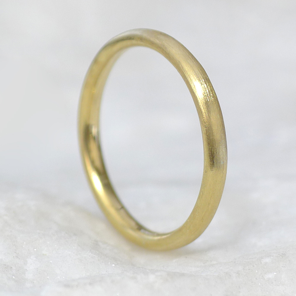 2mm Comfort Fit Gold Wedding Ring