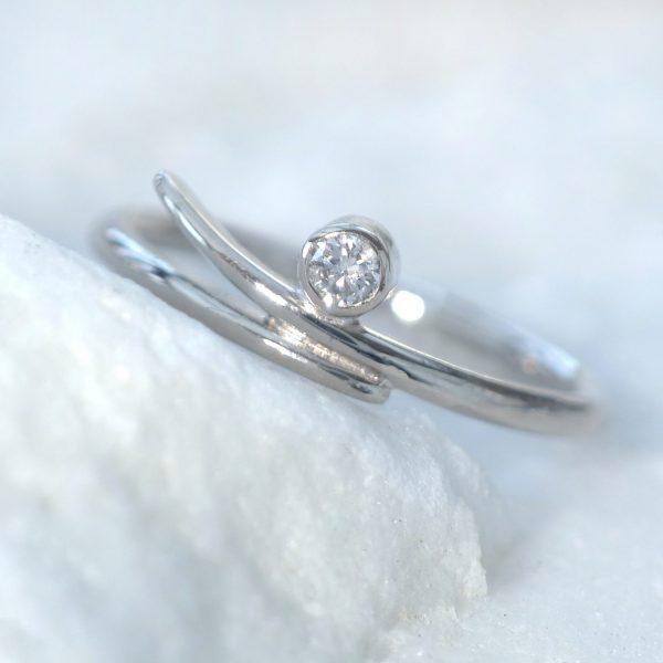 Diamond Engagement Ring in Accent Design