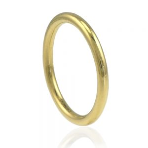 2mm halo wedding ring in 18ct gold