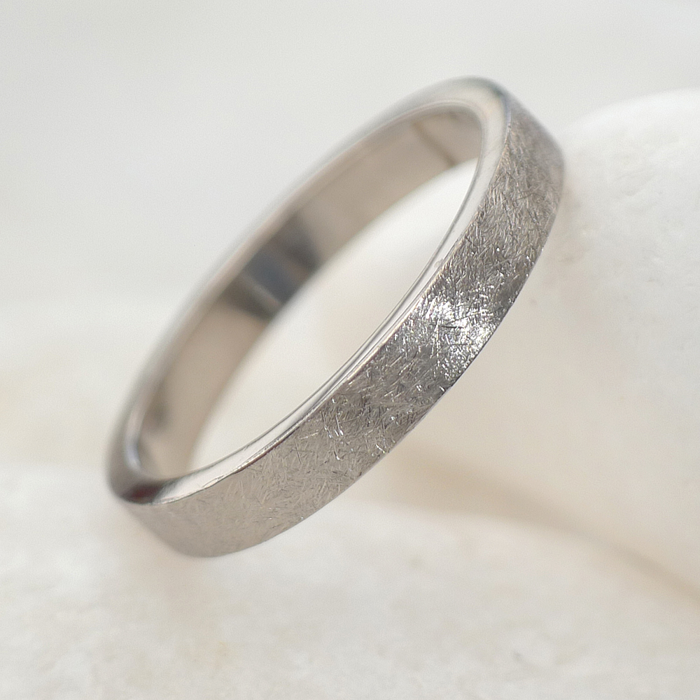 Urban Wedding Ring in 18ct White Gold