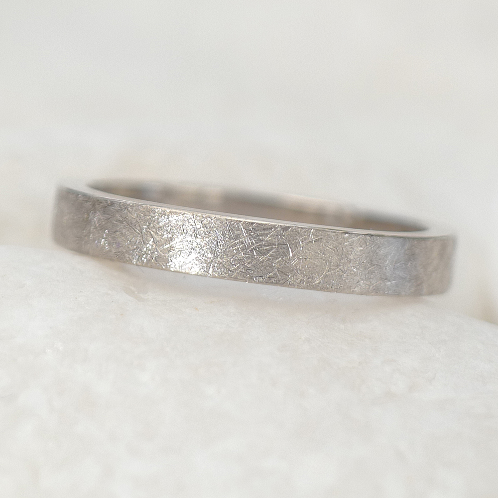 Urban Wedding Ring in 18ct White Gold