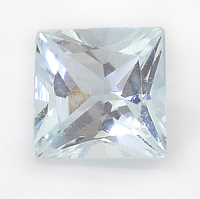 Pale blue princess cut aquamarine