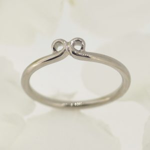 ornate 18ct white gold wedding ring