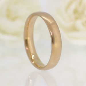 4mm Comfort-fit Wedding Ring in 18ct Rose Gold