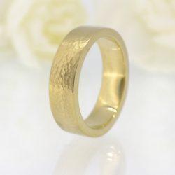 6mm Hammered Wedding Ring