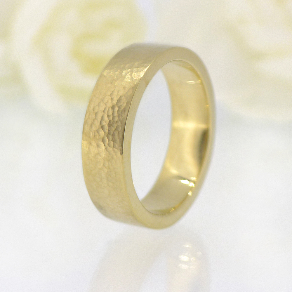 6mm Hammered Wedding Ring