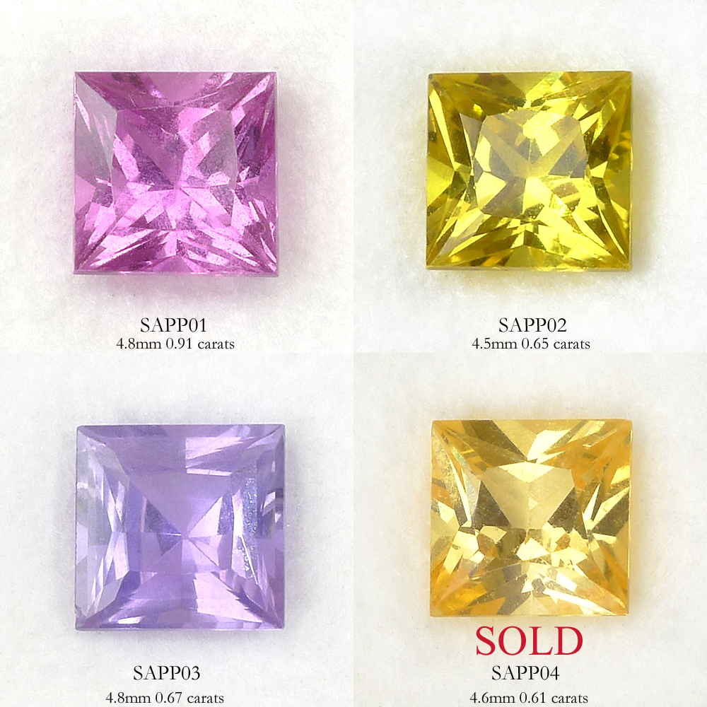 Choice of Princess Cut Sapphires