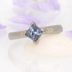 Princess Cut Sapphire Ring