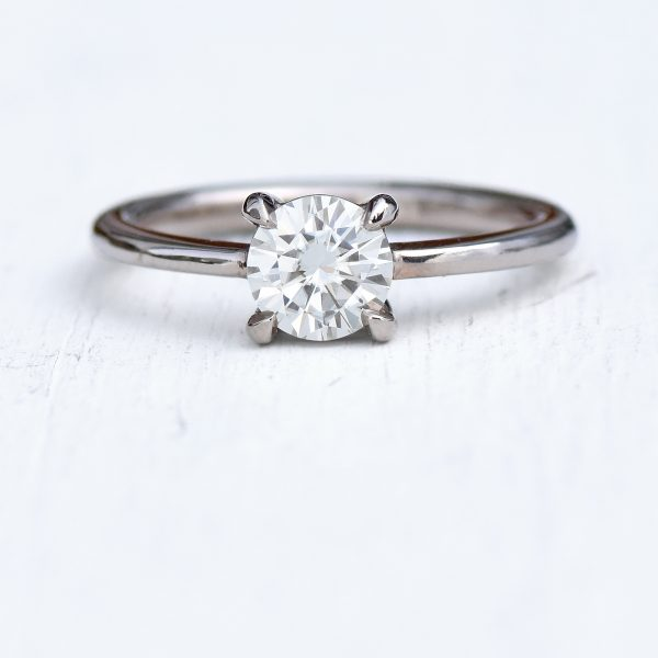 moissanite ring in 18ct gold