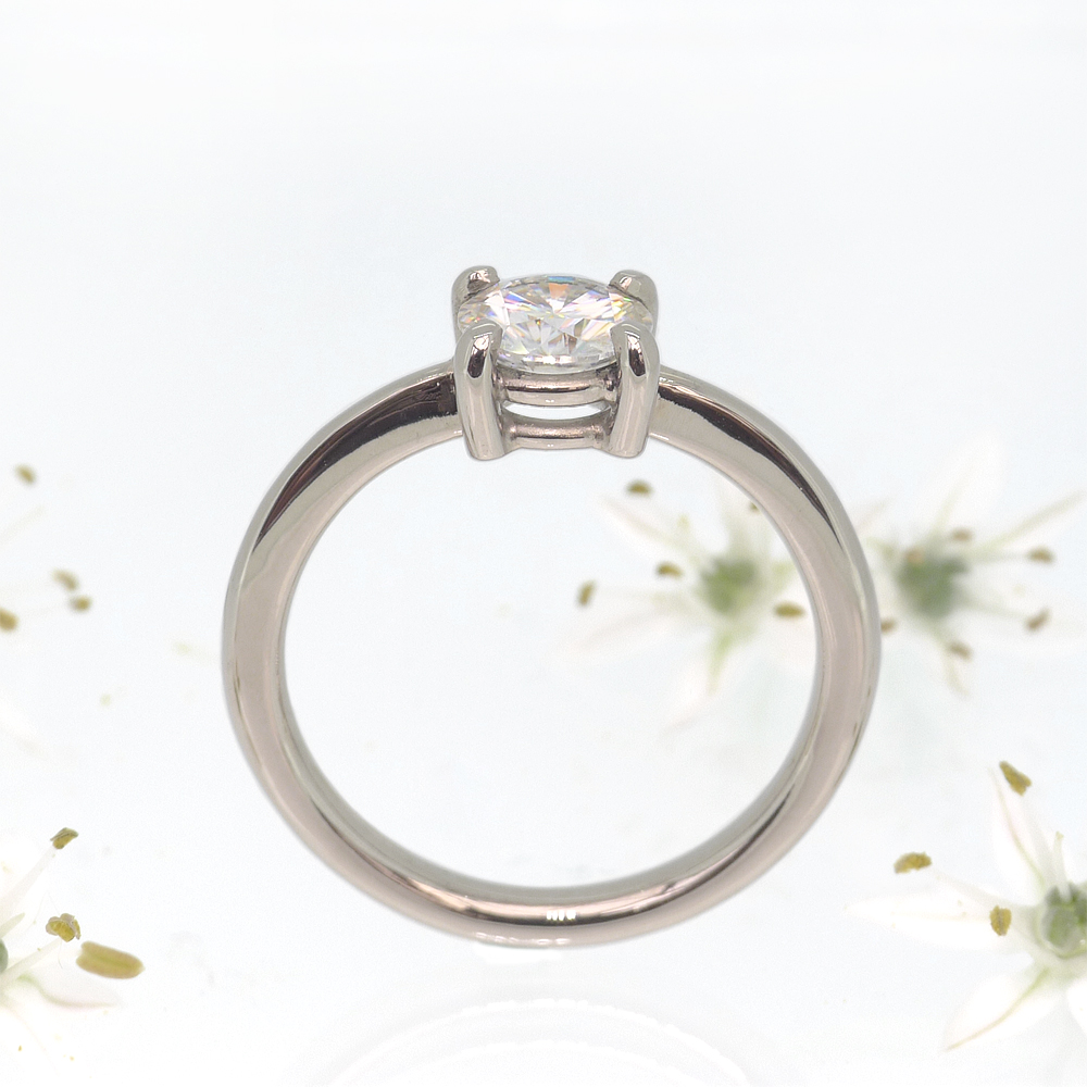 Moissanite Engagement Ring (side view)