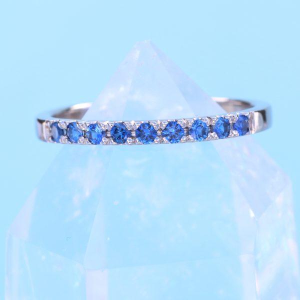 blue sapphire eternity ring
