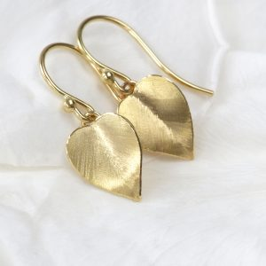 18ct Gold Leaf Earrings