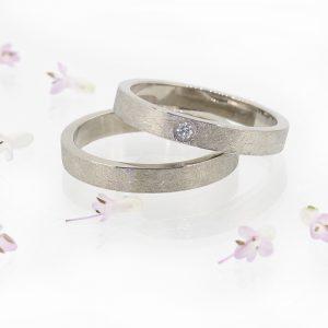 Urban Diamond Engagement Ring Set