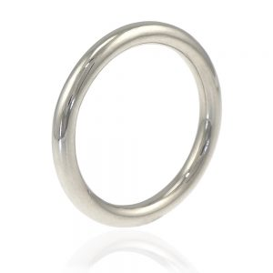 2.5mm halo wedding ring in 18ct white gold
