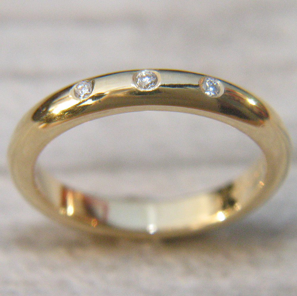 3mm half wedding ring ethical wedding