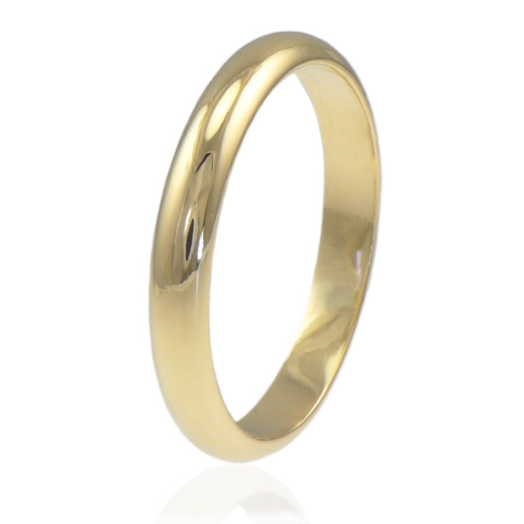 3mm wedding ring in 18ct yellow gold