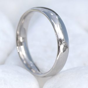 4mm Comfort Fit Wedding Ring in 18ct White Gold