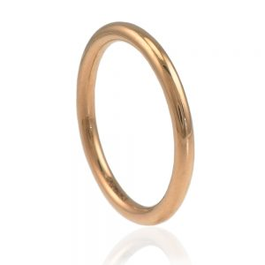 2mm halo rose gold ring