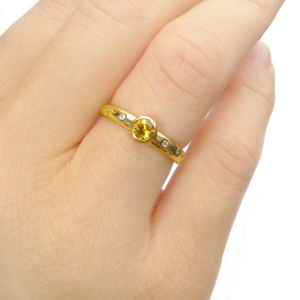 Yellow Sapphire Engagement Ring
