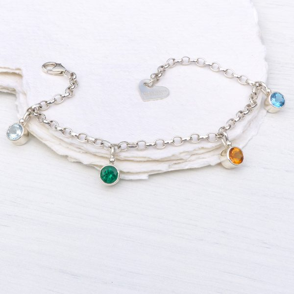 personalised birthstone bracelet