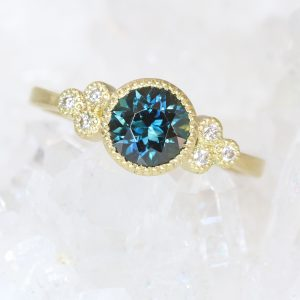 teal sapphire ring