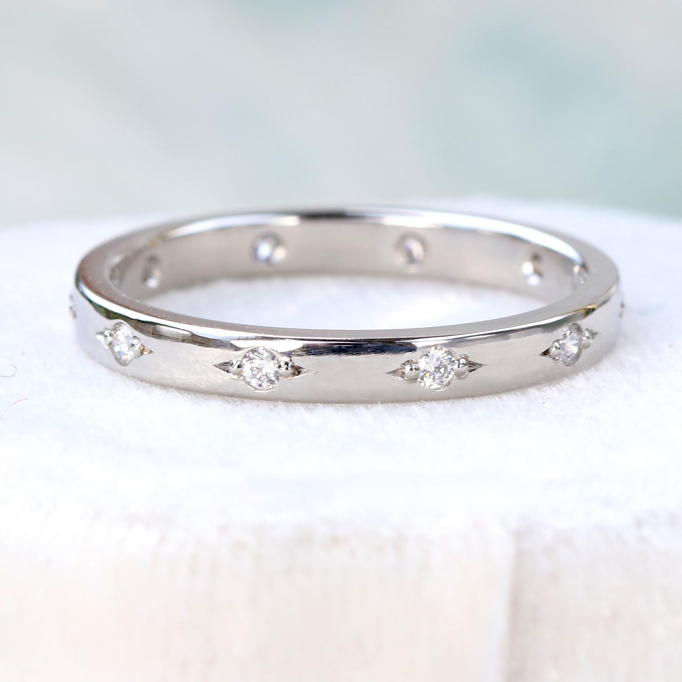 Diamond Eternity Ring 18ct Golds Or Platinum Lilia Nash