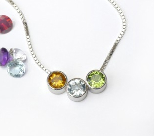shineon fishing gold birthstone products necklace grande