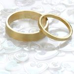 Ethical wedding rings using recycled gold.
