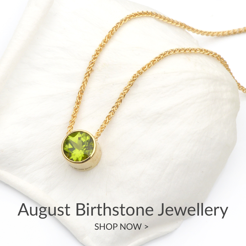 August Birthstone Jewellery