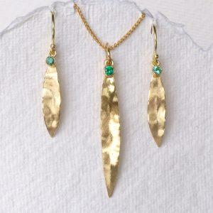 Emerald Leaf Set