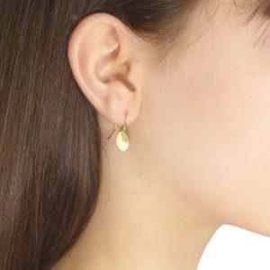 flower petal earrings in 18ct yellow gold