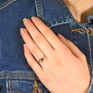Sapphire Moon Ring