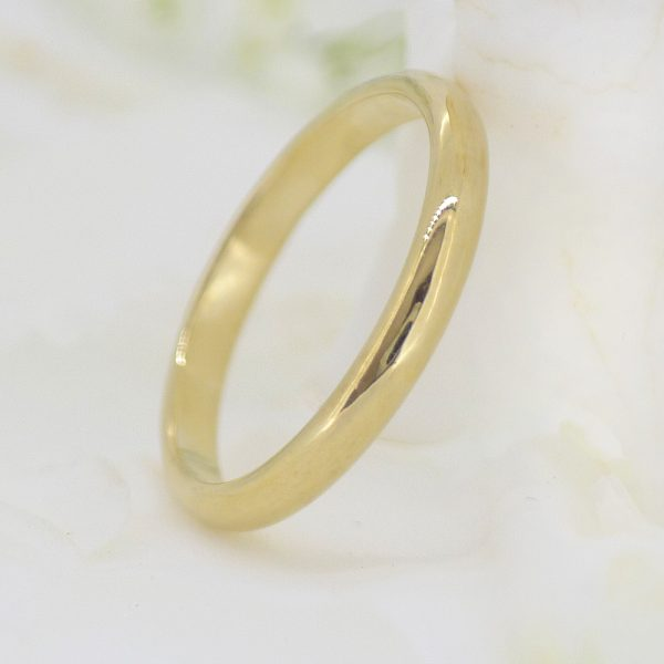 2.5mm half round wedding ring