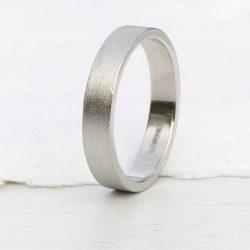 4mm flat wedding ring