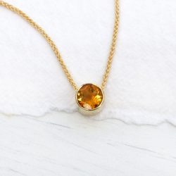 citrine necklace in 18ct gold