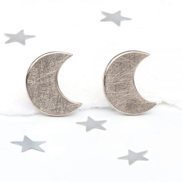 moon earrings in 18ct gold