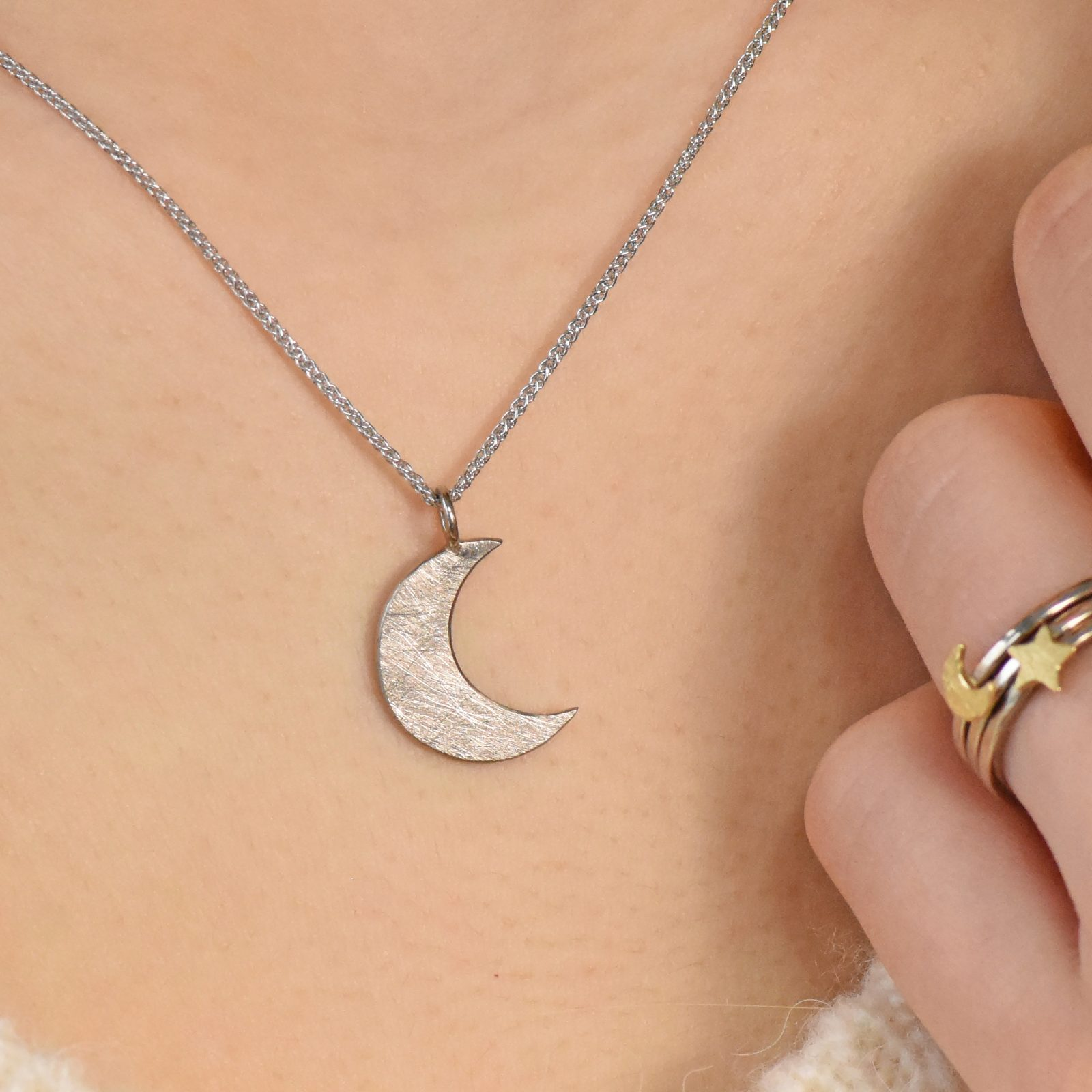 artisan trace up sil product br f gold pendants sterling moon sm silver small necklace pendant plated