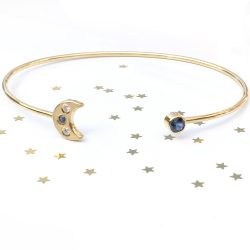 moon and stars bangle