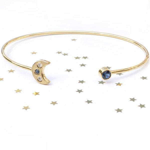 moon and stars bangle