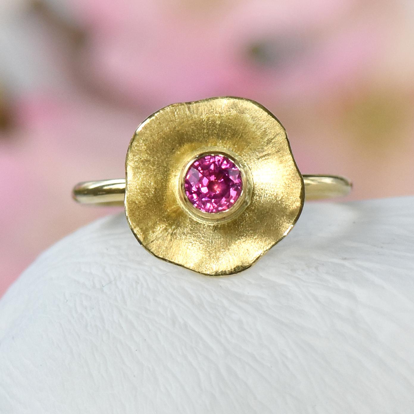 Flower Petals Pink Sapphire Ring Size K 12 Lilia Nash