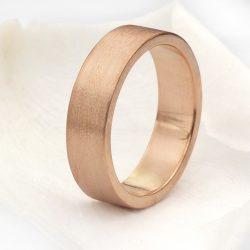 18ct rose gold wedding ring