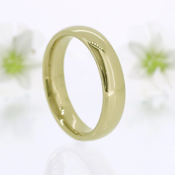 5mm court yellow gold ring