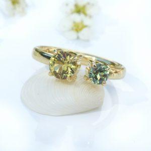 garnet cuff ring