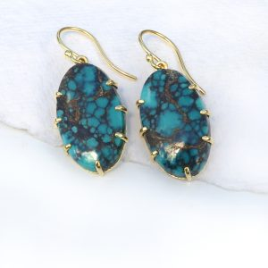 spiderweb turquoise earrings