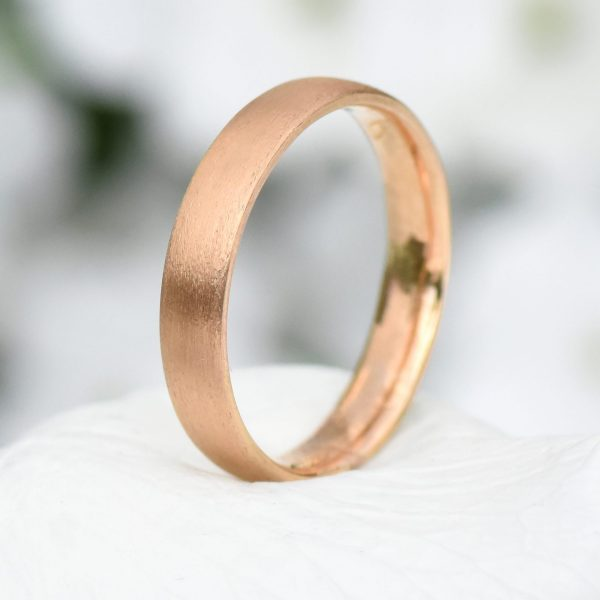 rose gold 4mm comfort fit 18ct gold ring