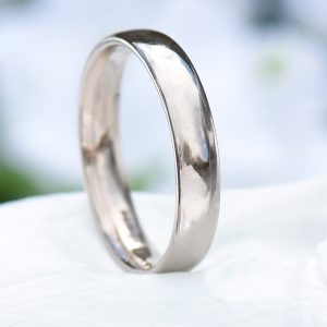 4mm comfort white gold wedding ring